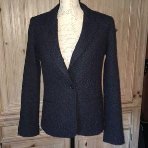 Elizabeth and James Blazer Blue Black Wool Blend 4